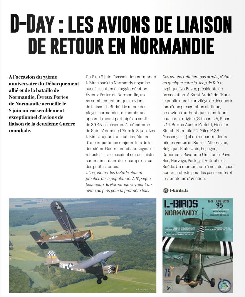 Magazine Evreux gates of Normandy